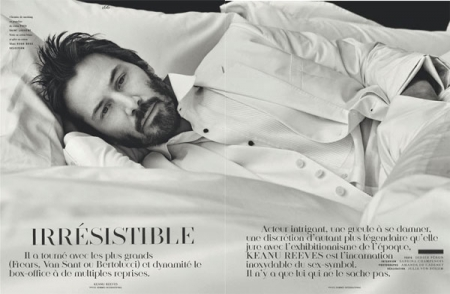 Keanu Reeves for Vogue Hommes