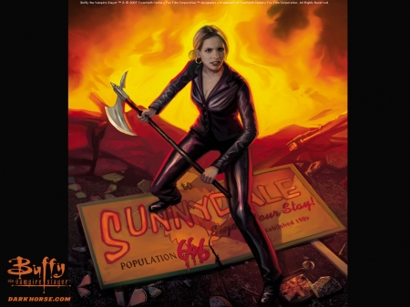 "Обои к комиксам ""Buffy the vampire slayer"" от Dark Horse Comics"