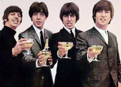 BEATLES'S GREATINGS with HAPPY christmas and A MERRY NEW YEAR