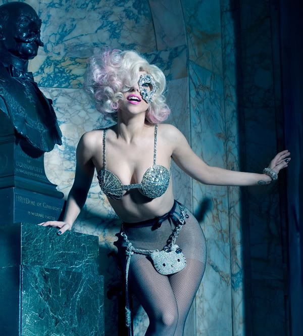Lady Gaga by Mario Testino and Markus Klinkko
