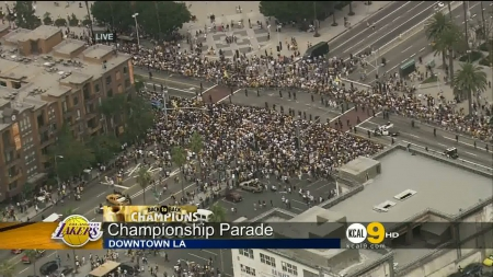 Парад чемпионов 2010 / Lakers 2010 Championship Parade