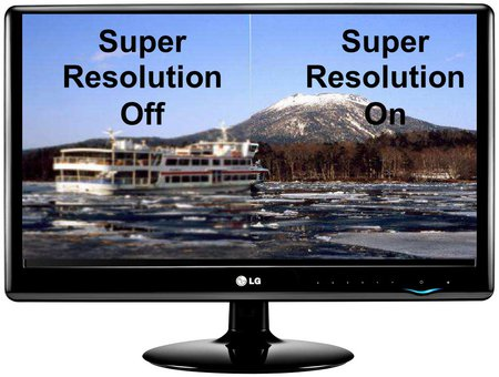 ������� LG E50VR � ����������� SUPER+ RESOLUTION