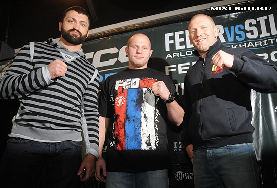 Пресс-конференция перед турниром M-1 Global & Strikeforce Fedor vs Silva