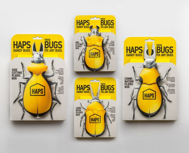 """HAPS HANDY BUGS"" Pliers packaging design /"